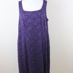 Alex Evenings Sequin Lace Jacket Dress Size 16W